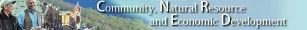 Banner graphic for community, natural resource and economic development