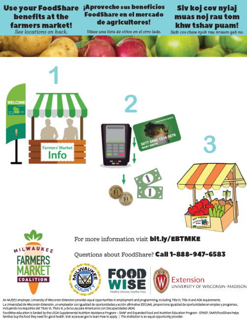 Use your FoodShare benefits at the farmers market!